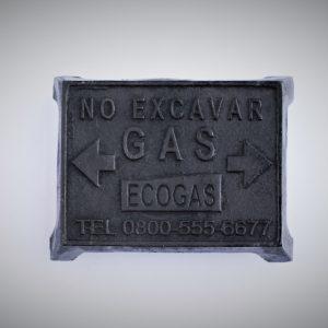 Placa de Fundición ECOGAS según P.T.14015-Rev.01
